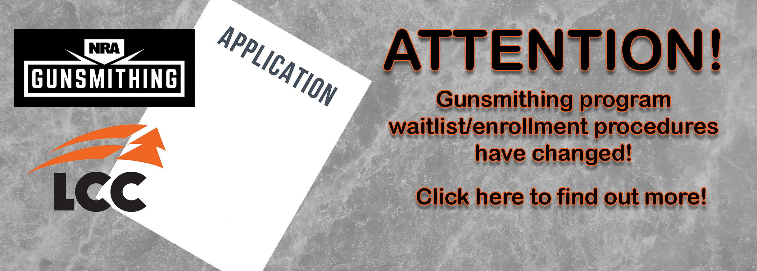 Gunsmithing Application Change