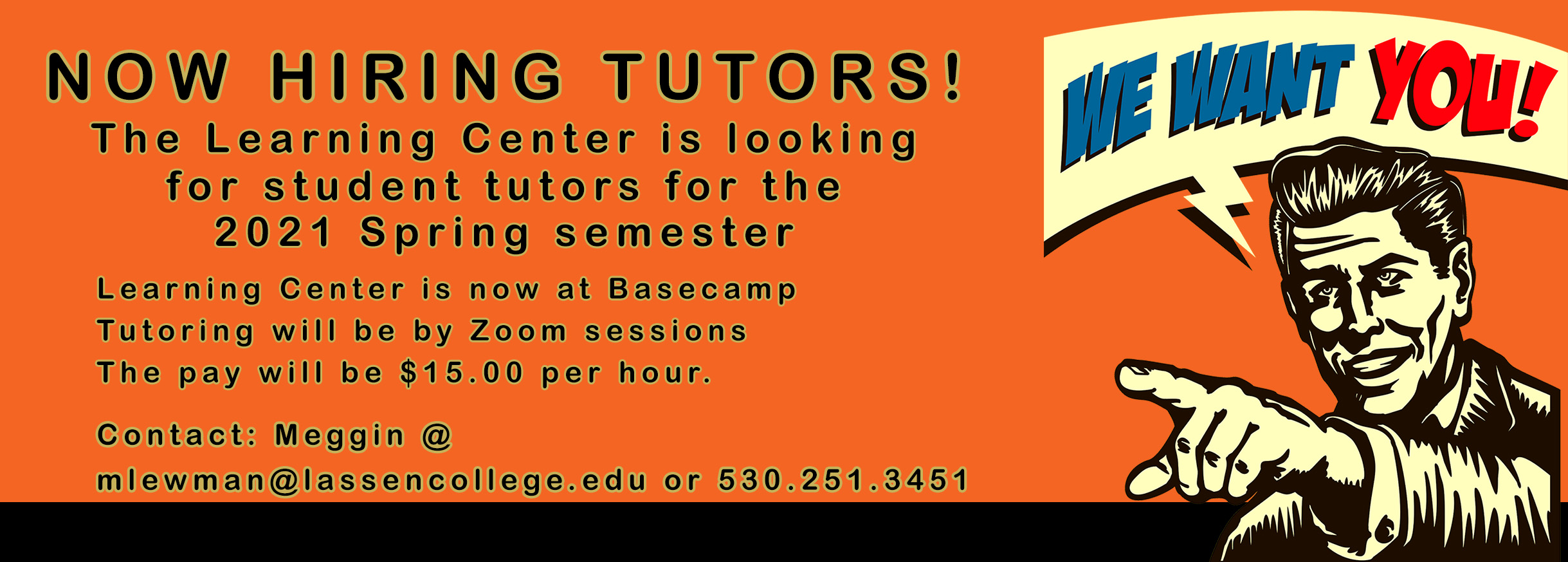 Now Hiring Student Tutors!