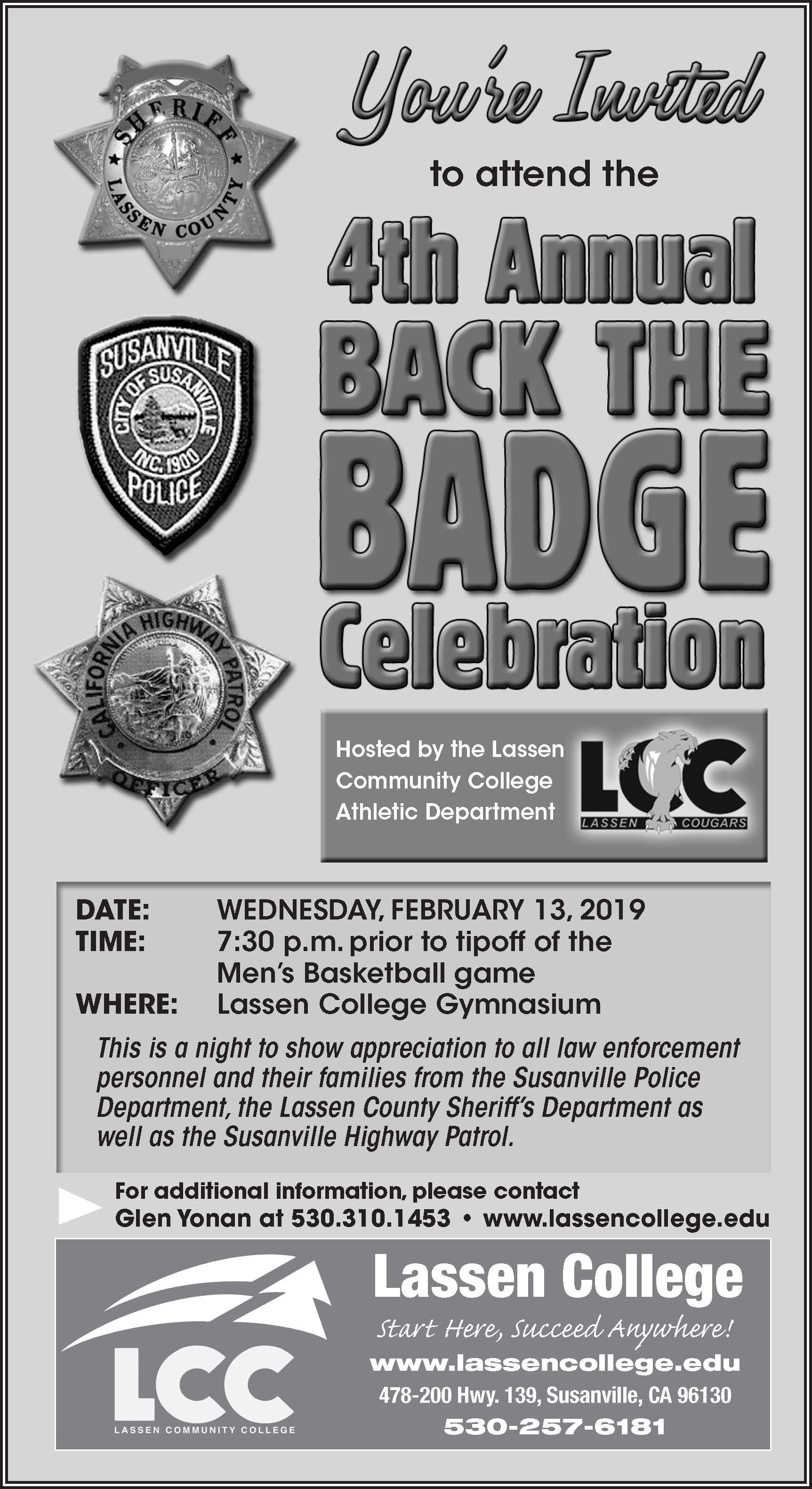 4th Annual Back The Badge Celebration